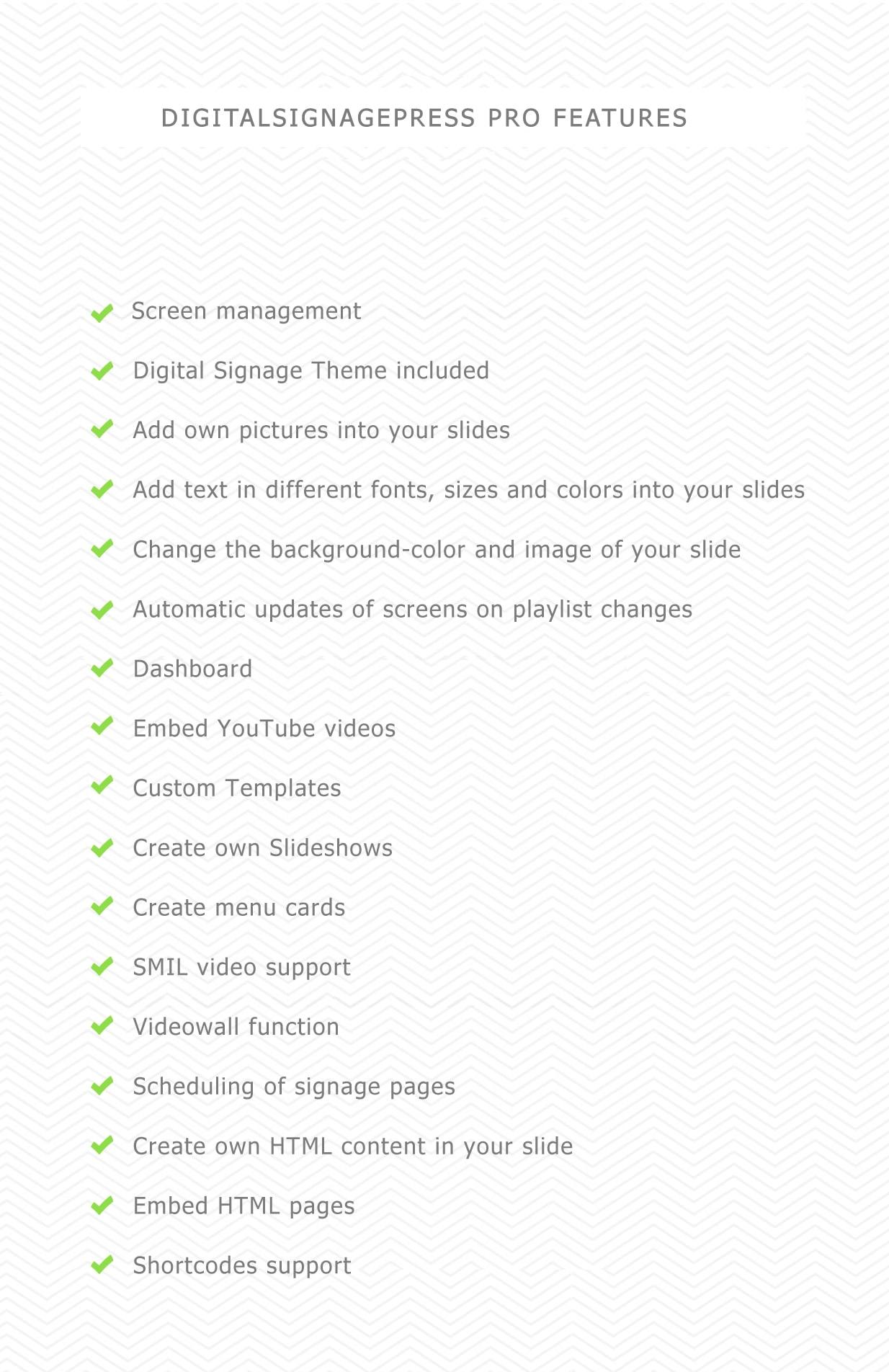 Digitalsignagepress Pro - Digital Signage WordPress Plugin