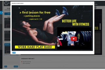 Digital Signage Template Fitness