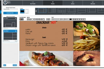 Digital Signage Template Snackbar