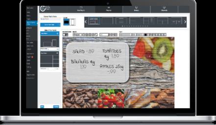 digital signage demo on macbook